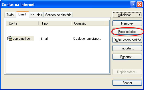 Gmail-Configure conta no Outlook Express