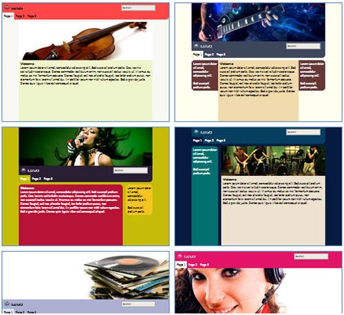 Modelos de sites para Blog de Música