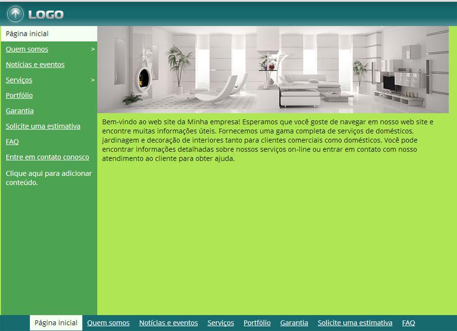 Modelo de site de Decoradores