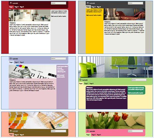 Modelos de sites de Decoradores