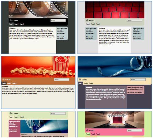 Modelos de sites para Blog de Filmes