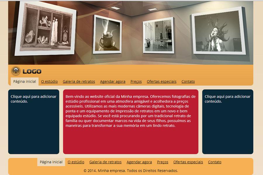 Modelo de site para Estúdio de retratos