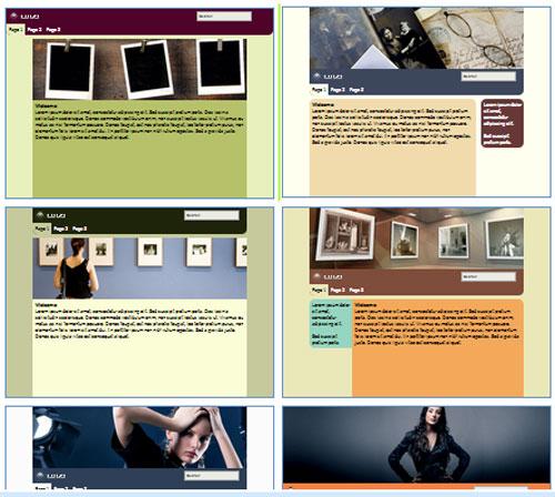 Modelos de sites para Estúdio de retratos