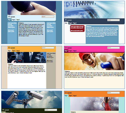Modelos de sites de Notícias ou Jornal