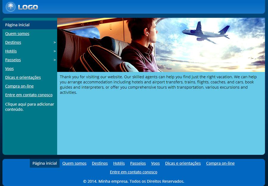 Modelo de site de Agência de viagens