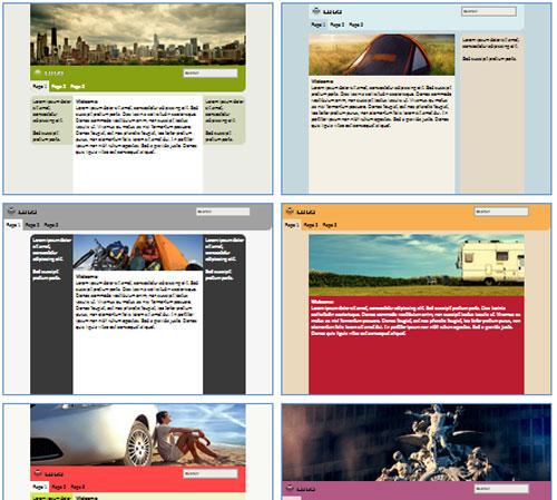 Modelos de sites de Agência de viagens