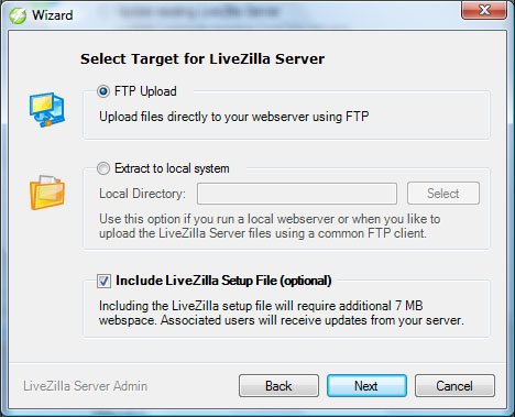 LiveZilla - Upload automático via FTP