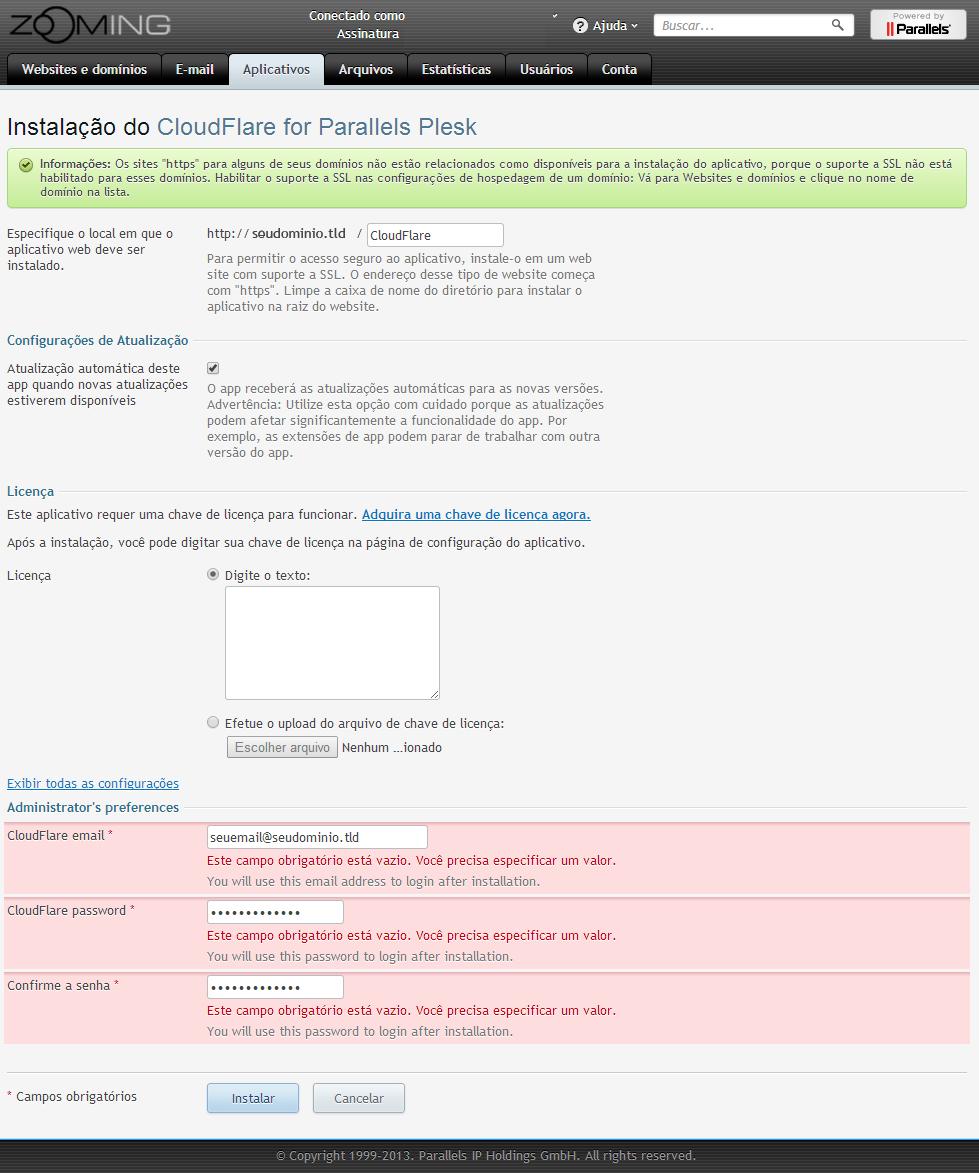 Configurar a CloudFlare