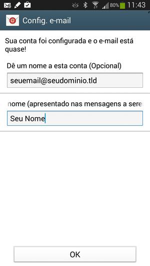 Identificação da Conta IMAP no Android