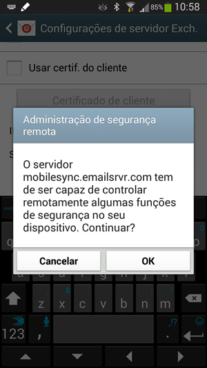 Administração de segurança remota no Android