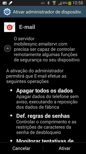 Ativar administrador de dispositivo no Android