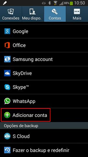 Adicionar Email no Android