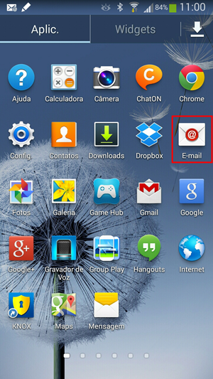 Acesso do email no Android