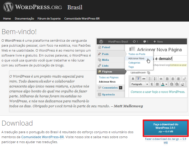 Download do WordPress