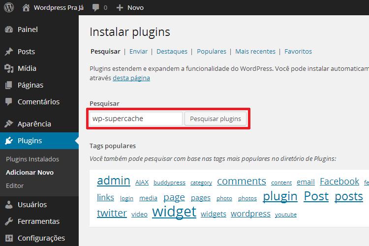 Pesquisar Plugin do WordPress