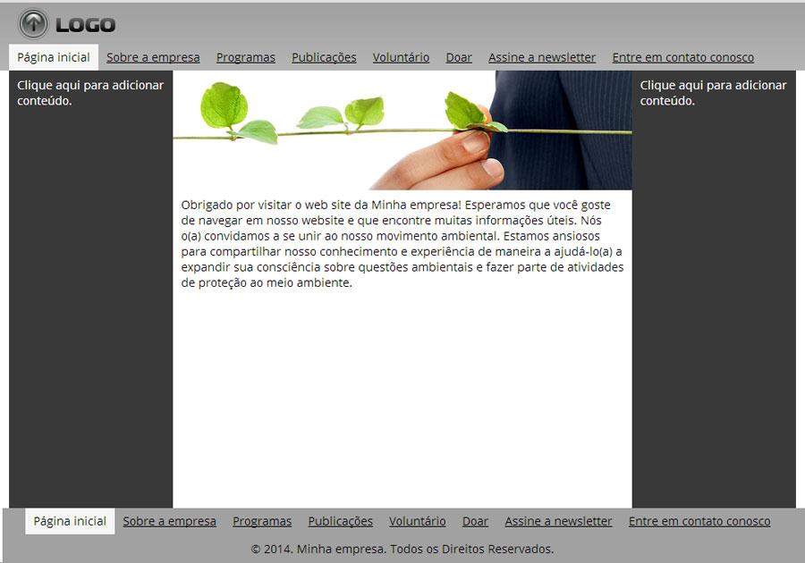Modelos de sites de Organização Ambiental
