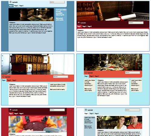 Modelos de sites de Bibliotecas