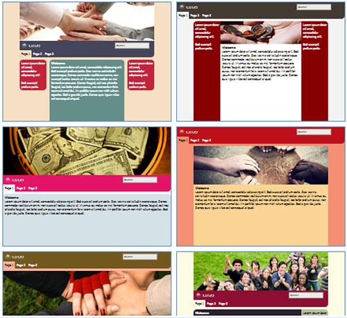 Modelos de sites de Organização de caridade/filantrópica