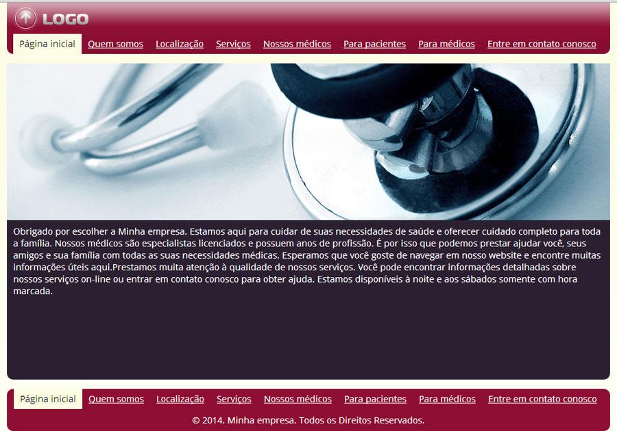 Modelo de site para Clínica ou Provedor de Atendimento Médico