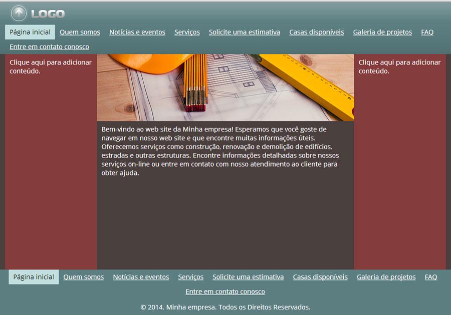 Modelo de site de Empresas de Construção