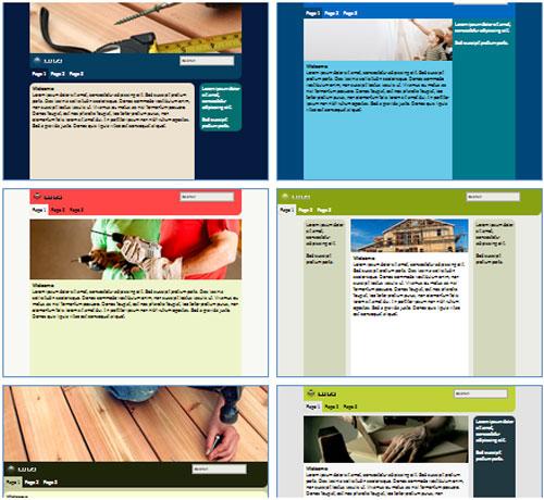 Modelos de sites de Empresas de Construção