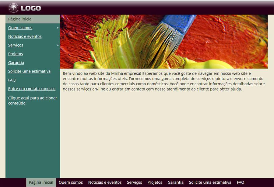 Modelo de site de Pintor Residencial