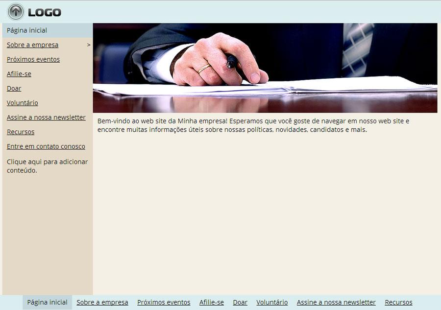 Modelo de site de Partido Político