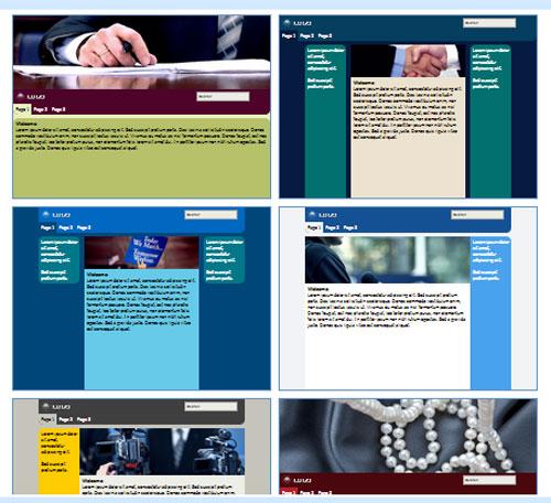 Modelos de sites de Partido Político