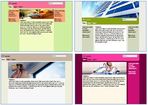 Modelos de sites de Empreiteira de vidros e colocação de vidros