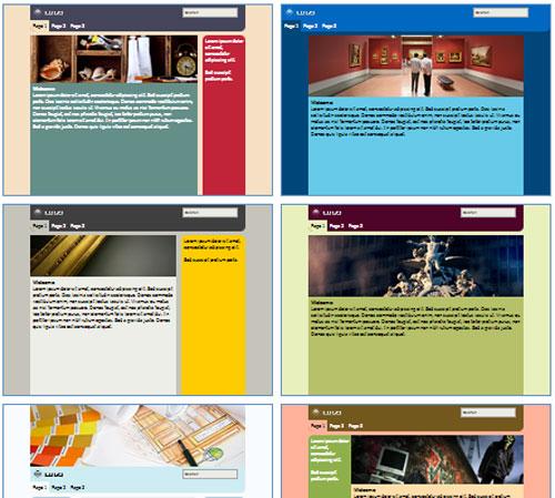 Modelos de sites para Website do artista