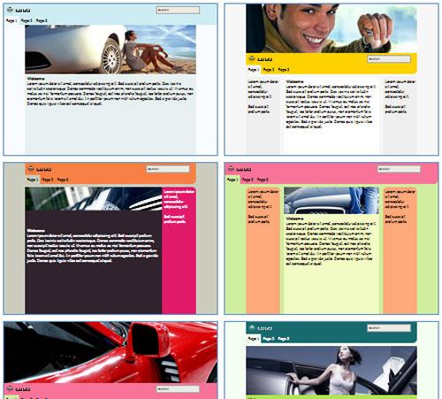 Modelos de sites para Autoescola
