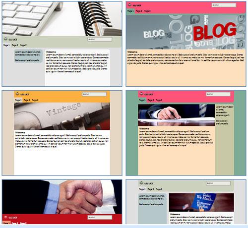 Modelos de sites para Blog de Política