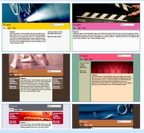 Modelos de sites para Cinema, teatro ou casa de espetáculos