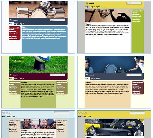 Modelos de sites para Clube esportivo