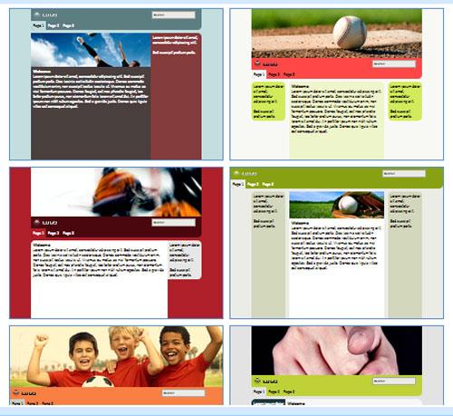Modelos de sites para Equipe de esportes ou de clube