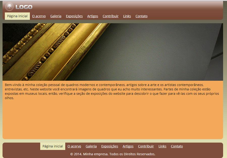 Modelo de site para Coleção pessoal