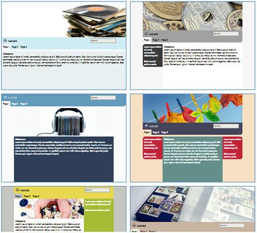 Modelos de sites para Coleção pessoal