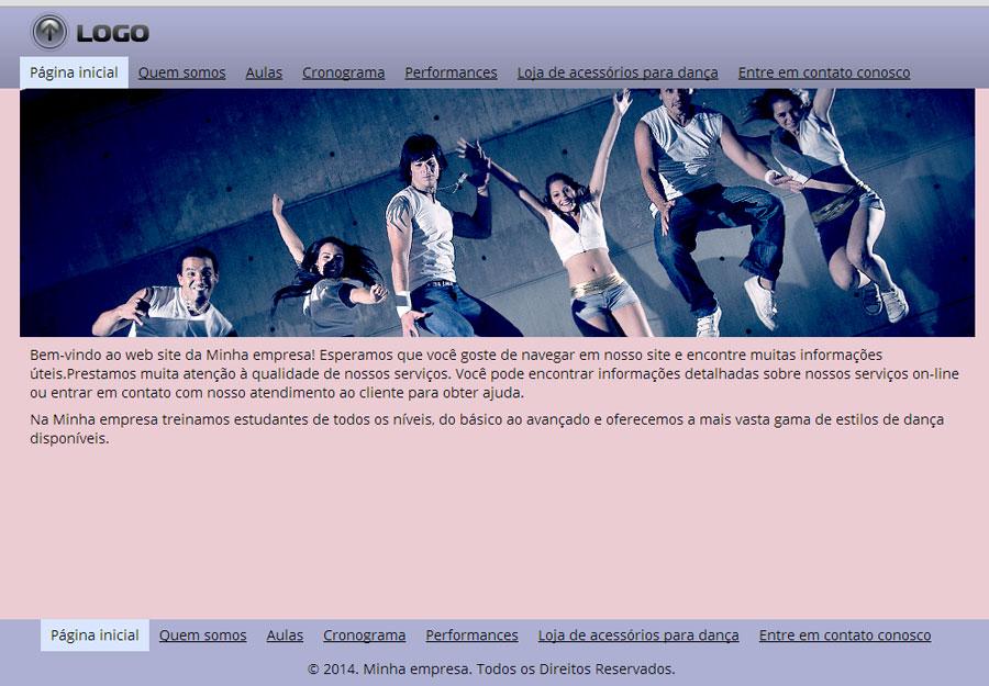 Modelo de site para Estúdio de dança