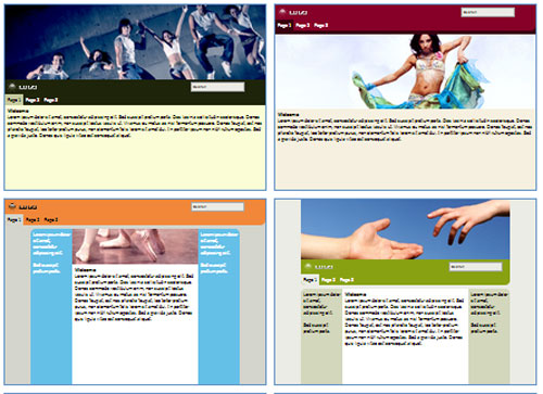Modelos de sites para Estúdio de dança