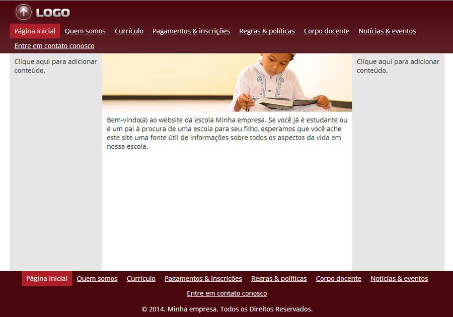 Modelo de site para Escola de ensino fundamental ou médio