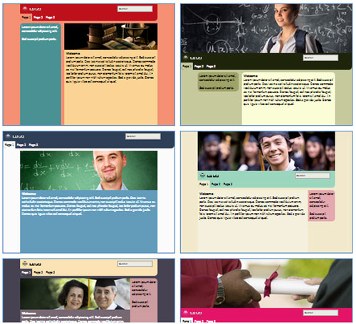 Modelos de sites para Escola de ensino fundamental ou médio