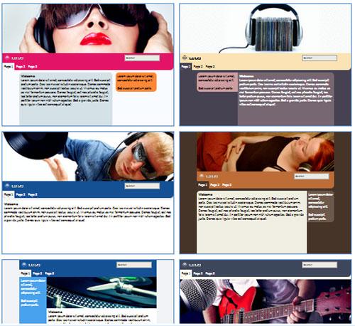 Modelos de sites para Website dos fãs da banda/músico