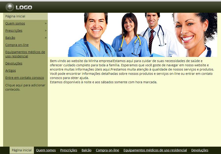 Modelo de site para Farmácia