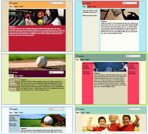 Modelos de sites para Website dos torcedores de times
