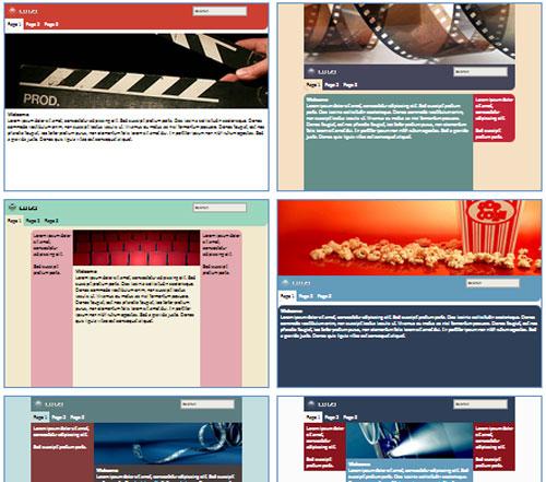 Modelos de sites para Fãs de Filmes