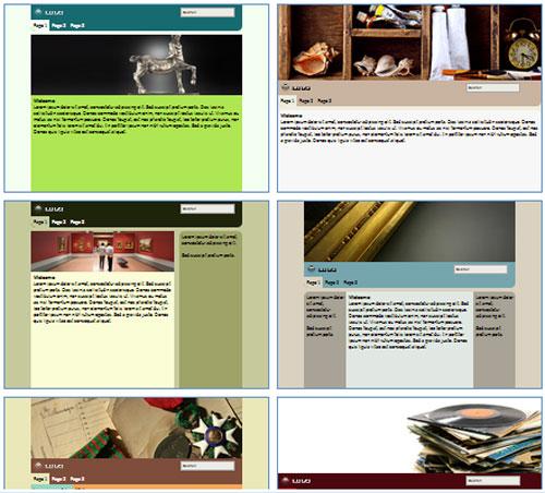 Modelos de sites para Museu, Galeria ou Exposição