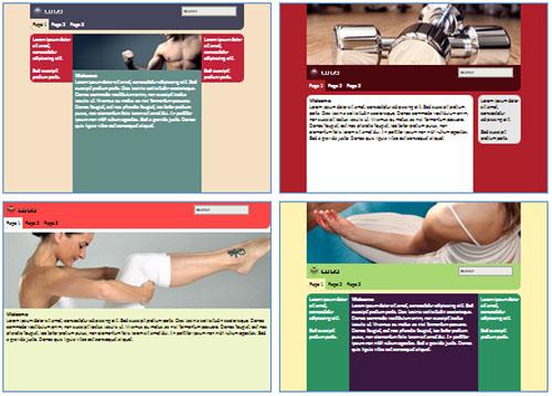 Modelos de sites para Estúdio de Yoga e Pilates