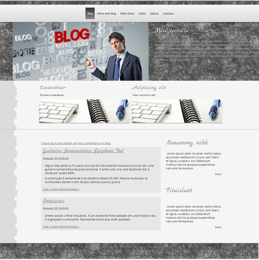 Modelo de site para Blog Genérico