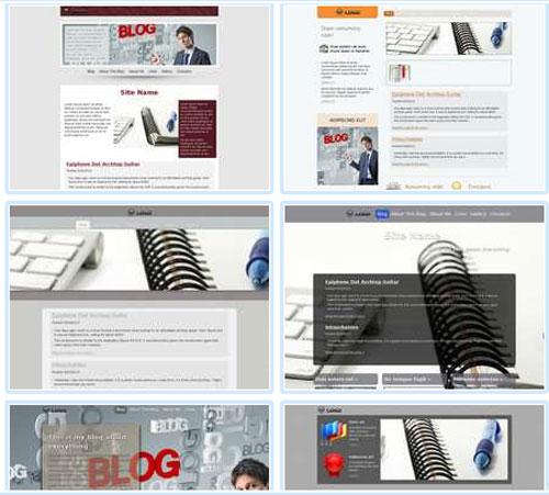 Modelos de sites para Blog Genérico