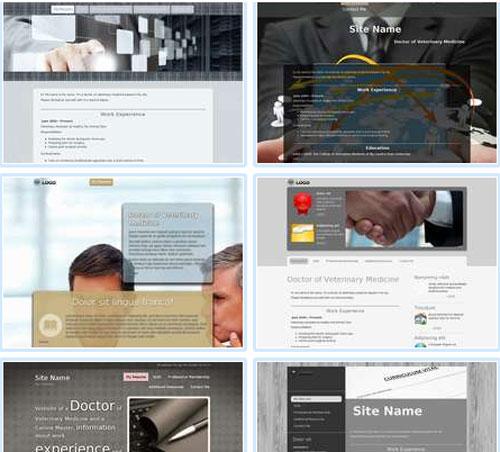 Modelos de sites para currículo ou Perfil de Trabalho